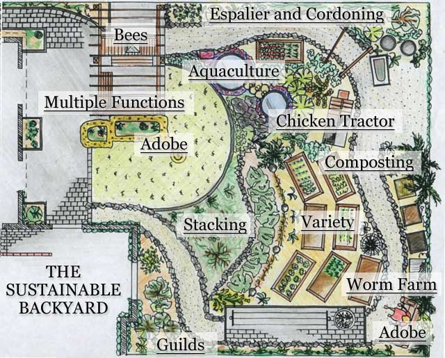 Sustainable Backyard Map