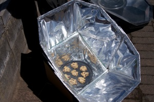 cookies in the solar cooker